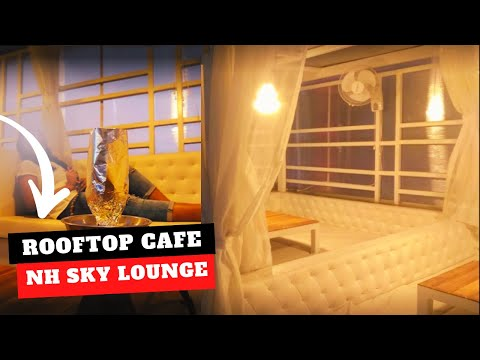 Rooftop Restaurant At Diamond Plaza In Lake Town | Cafe Hookah Bar | Open Air Terrace Tour | Kolkata