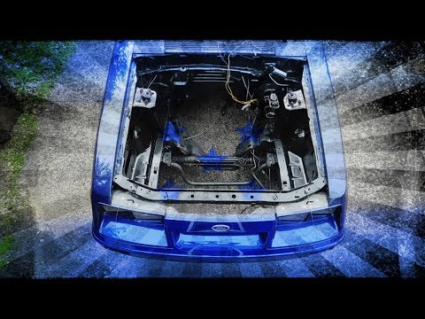SPRAY PAINTING THE ENGINE BAY ON THE FOXBODY MUSTANG
