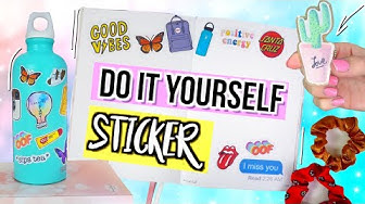 DIY TUMBLR + VSCO STICKER 🦋Ganz ohne Stickerpapier 🤯Do it yourself 2019 Cali Kessy
