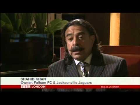 London: Shahid Khan - the owner of Fulham FC and Jacksonville Jaguars