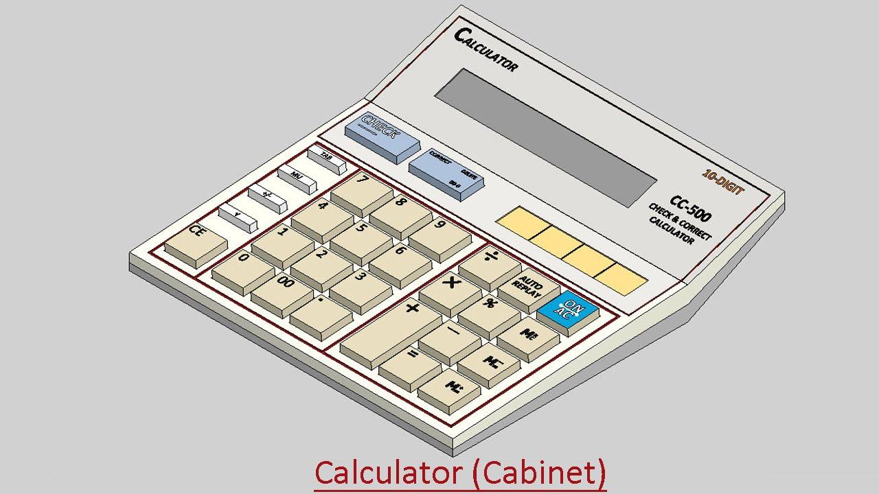 Ordinaire Calculator (Cabinet) Video Tutorial (SolidWorks)