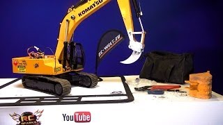"""RC ADVENTURES - the """"FANG"""" Earth Ripper & Quick Coupler - Digger 4200XL Excavator"""