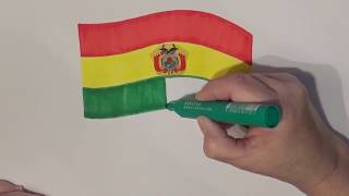 Learn geography for kids How to draw a flag Bolivia