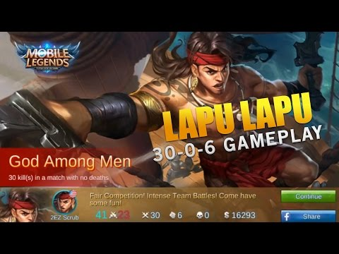 PERFECT LAPU LAPU GAMEPLAY! BEST LAPU LAPU BUILD (Mobile Legends)