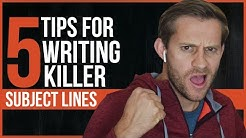 5 Tips For Writing KILLER Subject Lines - Email Marketing for Ninjas