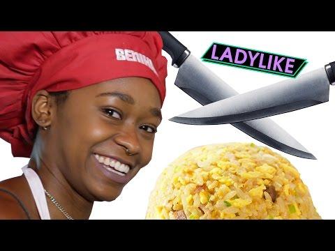 Women Try Benihana Food Tricks • Ladylike