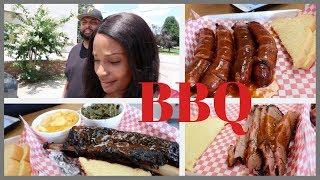 ATLANTA BBQ  BEEF RIBS AT HATTIE MARIE'S / TEXAS BBQ