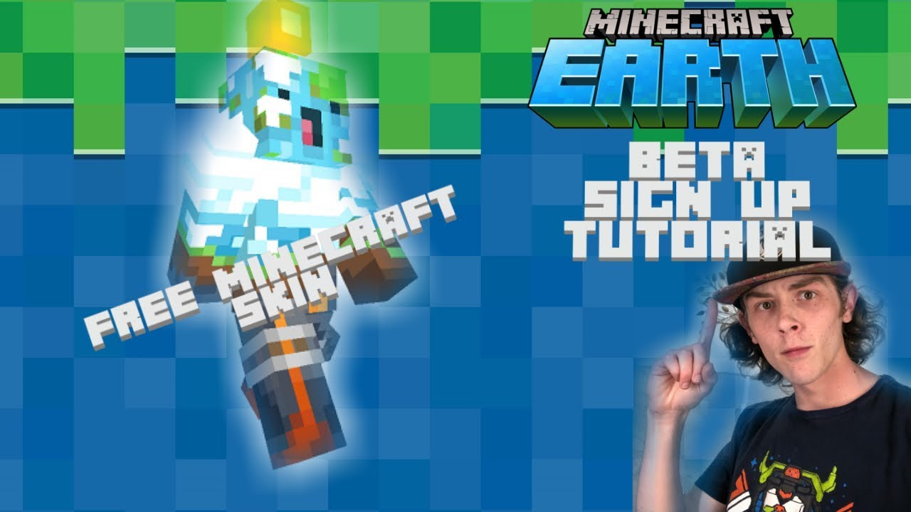 Minecraft Earth - Beta Signup Tutorial + FREE SKIN!!