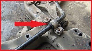 Как поменять втулки стабилизатора Peugeot Expert_ Fiat Scudo