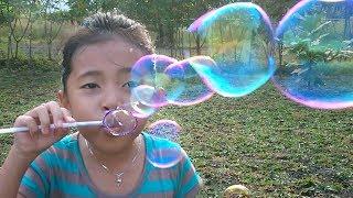 Mainan Anak Bubble ballon Soap - Slow Motion Video 960 fps - Balon Sabun