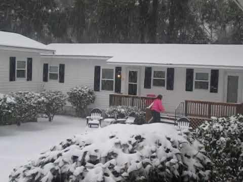 Rare Charleston South Carolina Snow, January 3, 2018