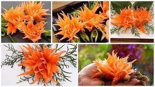 Super Salad Decoration Ideas - Easy Carrot Carving Garnish
