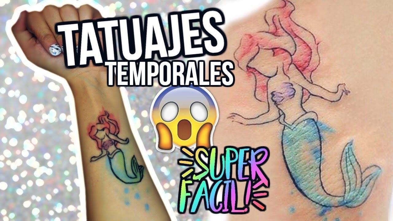 Diy Tatuajes Temporales Falsos Caseros Super Fácil Con Maquillaje