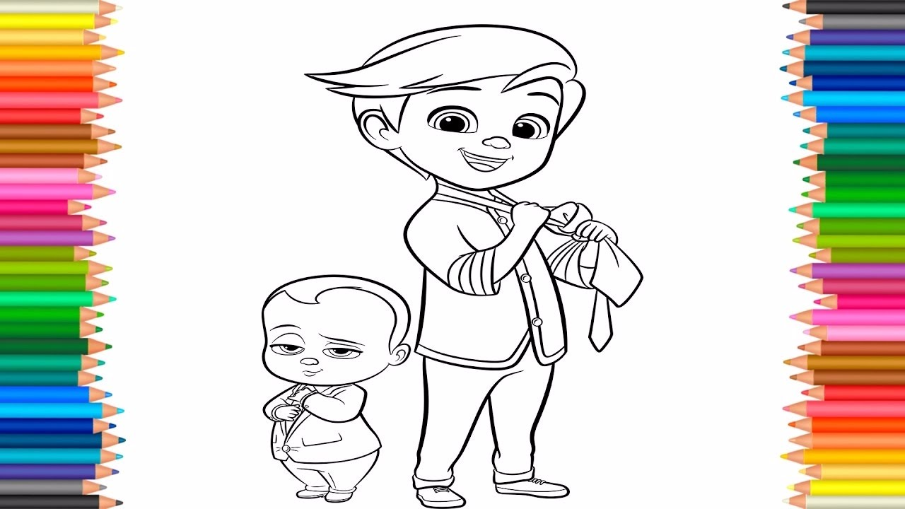 The Boss Baby Coloring Pages For Kids Learn Coloring Books For Kids Fun Activities For Children