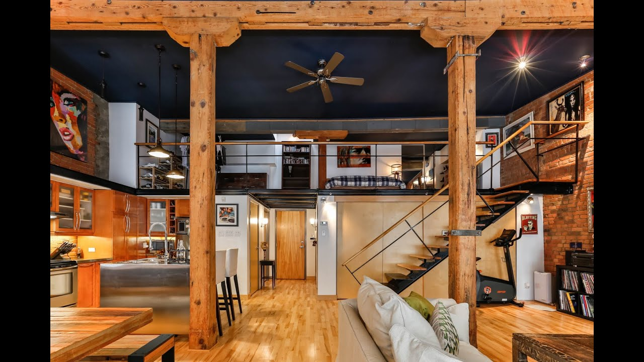 Spectaculaire loft vieux montr al engel volkers - Appartement a louer vieux port montreal ...