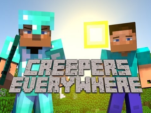 Видео: Creepers Everywhere - A Minecraft Parody of ColdPlays Paradise Animated Music Video