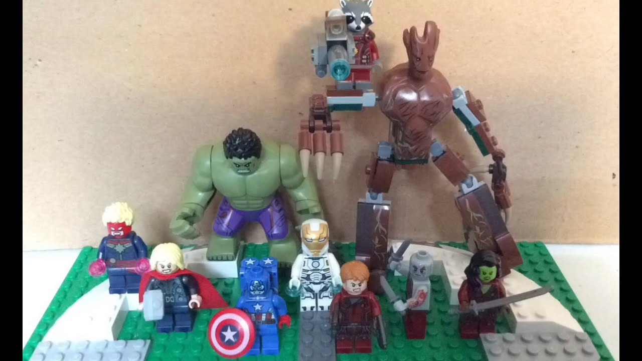 Lego Avengers vs the Guardians of the Galaxy - YouTube