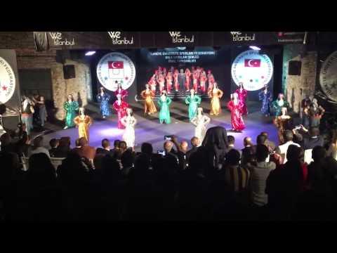 Türkiye Üniversiteler Halk Dansları Şenliği Stilize Dal Birincisi Dicle Üniversitesi, Bodrum,2017