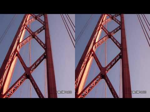 Passagem debaixo do Pilar da Ponte Sobre O Tejo (3D)