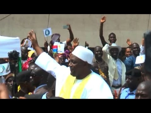 Gambia celebrates Barrow's inauguration
