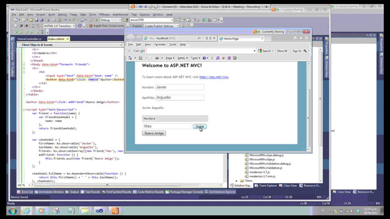 Knockout JS Ayudamos a construir interfaces dinámicas de JavaScript ...