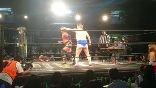 2018/08/05DDTプロレスリング 男色ディーノ・赤井沙希VS大鷲透・上野勇...