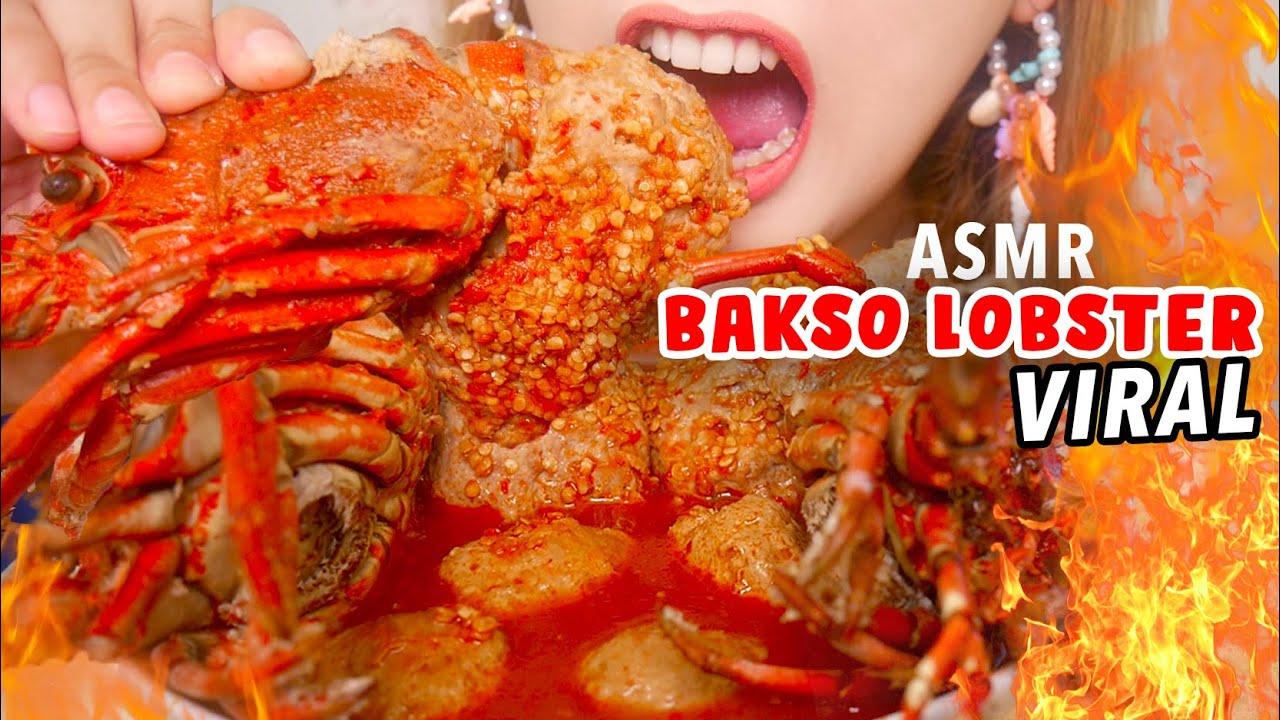ASMR BAKSO LOBSTER MANDI BIJI CABE | ASMR Indonesia
