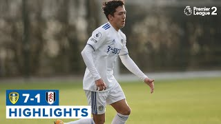SEVEN GOALS TO STAY TOP! | Leeds United U23 7-1 Fulham U23 | Premier League 2 highlights