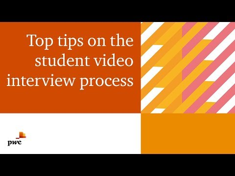 Andrew And Kruti Give Advice On Your Student Video Interviews | PwC