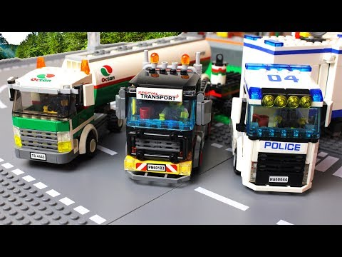 LEGO Cars - Trucks Lego Police Truck Video For Kids
