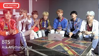 BTS Talk About Famous People, Fav Apps, Karaoke Songs, & America. Part 1