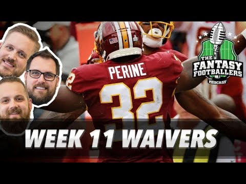 Fantasy Football 2017 - Week 11 Waivers & QB Streamers - Ep. #479