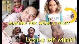 MAKING My Daughter Wear WIGS!? AM I GOING CRAZY?? | DITL of a SINGLE MOM of 3!