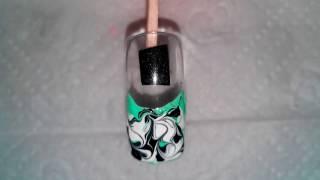 Рисунки на ногтях для новичков №5.  Figures on nails for beginners №5