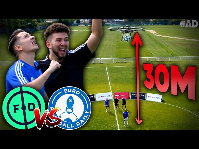 INSANE FIRST TOUCH CHALLENGE! | Football Daily vs Euro Football Daily
