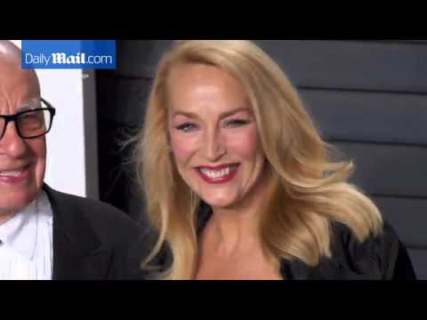 Rupert Murdoch and fiancee Jerry Hall at Vanity Fair party