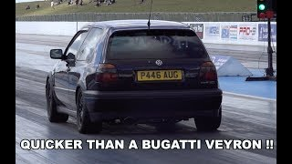 MK3 VW GOLF SLEEPER QUICKER THAN A BUGATTI VEYRON