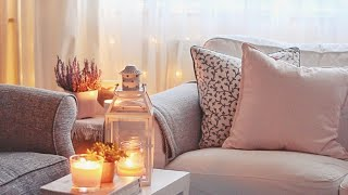 Cozy Day At Home Vlog | Decorating My Living Room For Winter #شتاء_اليوتيوبرز