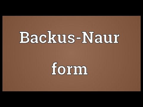 Backus-Naur form Meaning