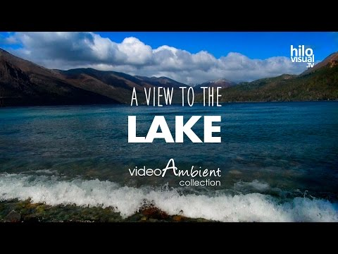 1 HOUR of Relaxing Wave Sounds from the View of the Lake for Meditation, Relax & Unwind