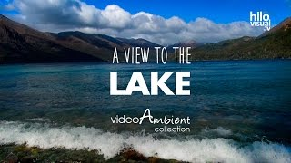 1 HOUR of Relaxing Sounds of Waves from the View of the Lake for Meditation, Relax & Unwind