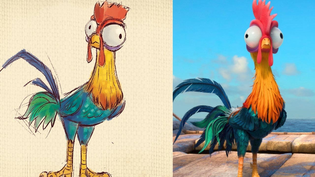 How To Draw Heihei From Disney S Moana Quick Draw Disney Live