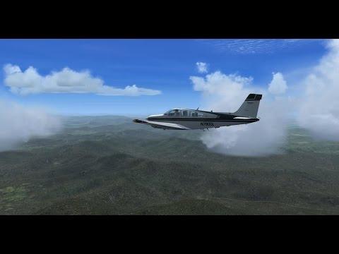 FSX-SE YLIL to YRED, Carenado Bonanza F33V & Orbx Terrain and airports