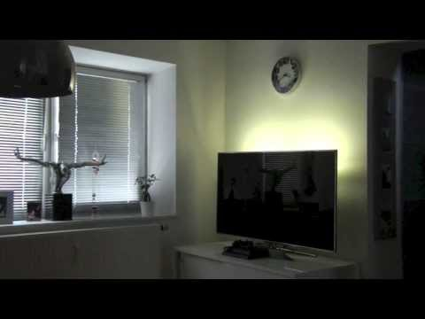 led beleuchtung f r fernseher m bel produkt demo backl doovi. Black Bedroom Furniture Sets. Home Design Ideas