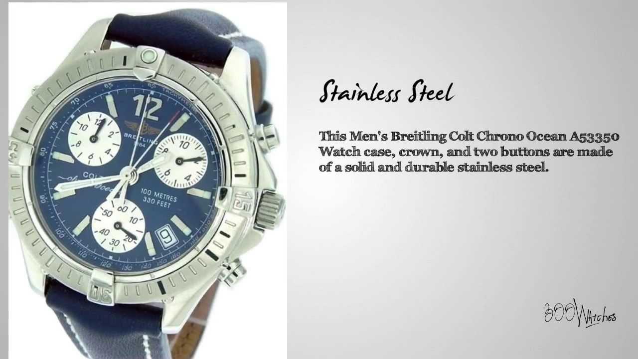 1898fb297b6 Breitling Colt Chrono Ocean A53350 Flyback Watch - YouTube