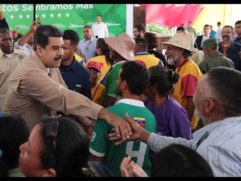 COMPLETO: Maduro recibe la Marcha Campesina Admirable que recorrió 500 kms para verlo