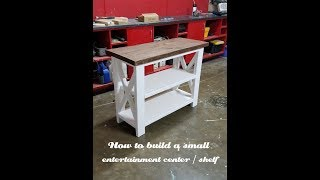 How to build a small entertainment center