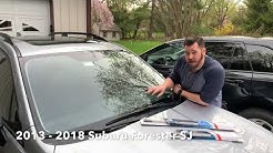 HOW TO: Subaru Forester Windshield Wiper Replacement (2013-2018 SJ)