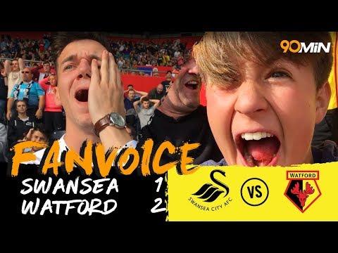 Richarlison's last minute goal gives Watford win!   Swansea 1-2 Watford   90min FanVoice