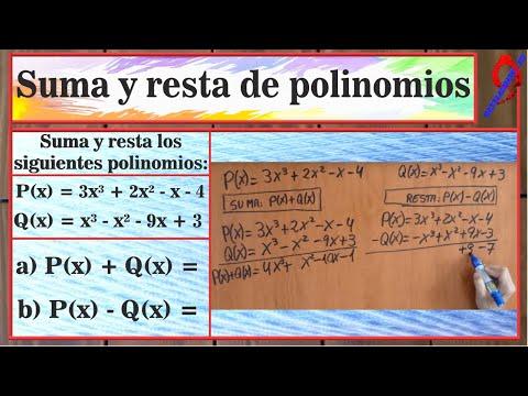 Suma y resta de polinomios. thumbnail